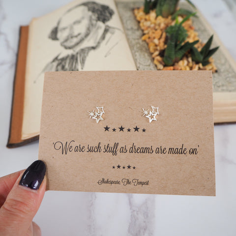 Shakespeare Star Earrings
