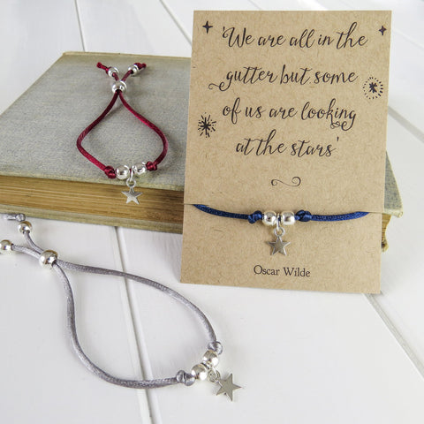 Oscar Wilde Star Friendship Bracelet - Literary Emporium