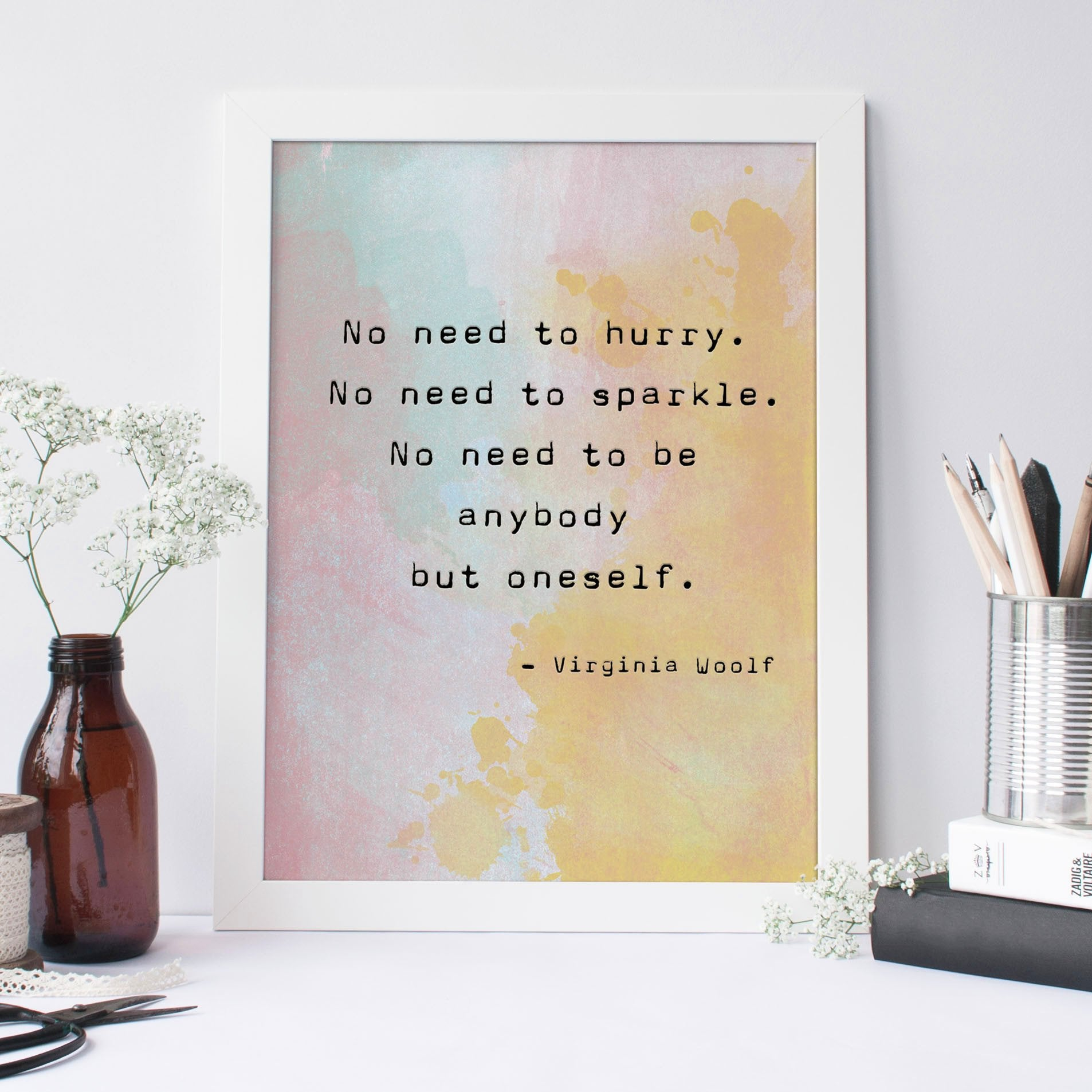 Virginia Woolf Quote Typewriter Print