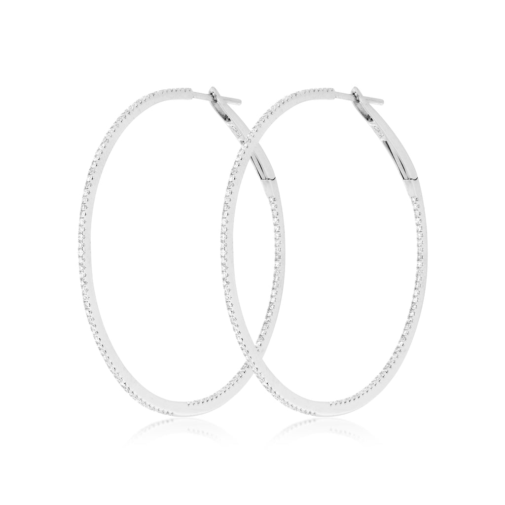 COVET Private Label Diamond Hoops