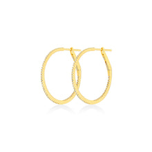 Diamond Hoops in 18k Yellow Gold