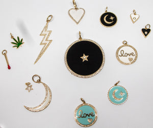 14k Gold, Diamond & Enamel Charms