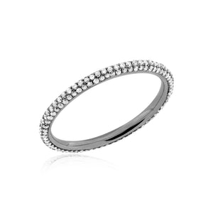 Pave Diamond Band 3 row