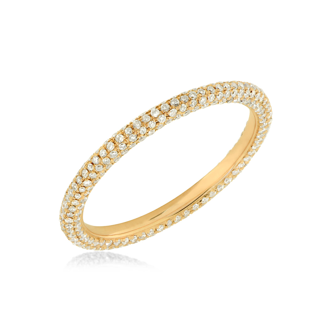 Pave Diamond Band 5 row