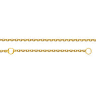 Adjustable Diamond Cut Cable Chain