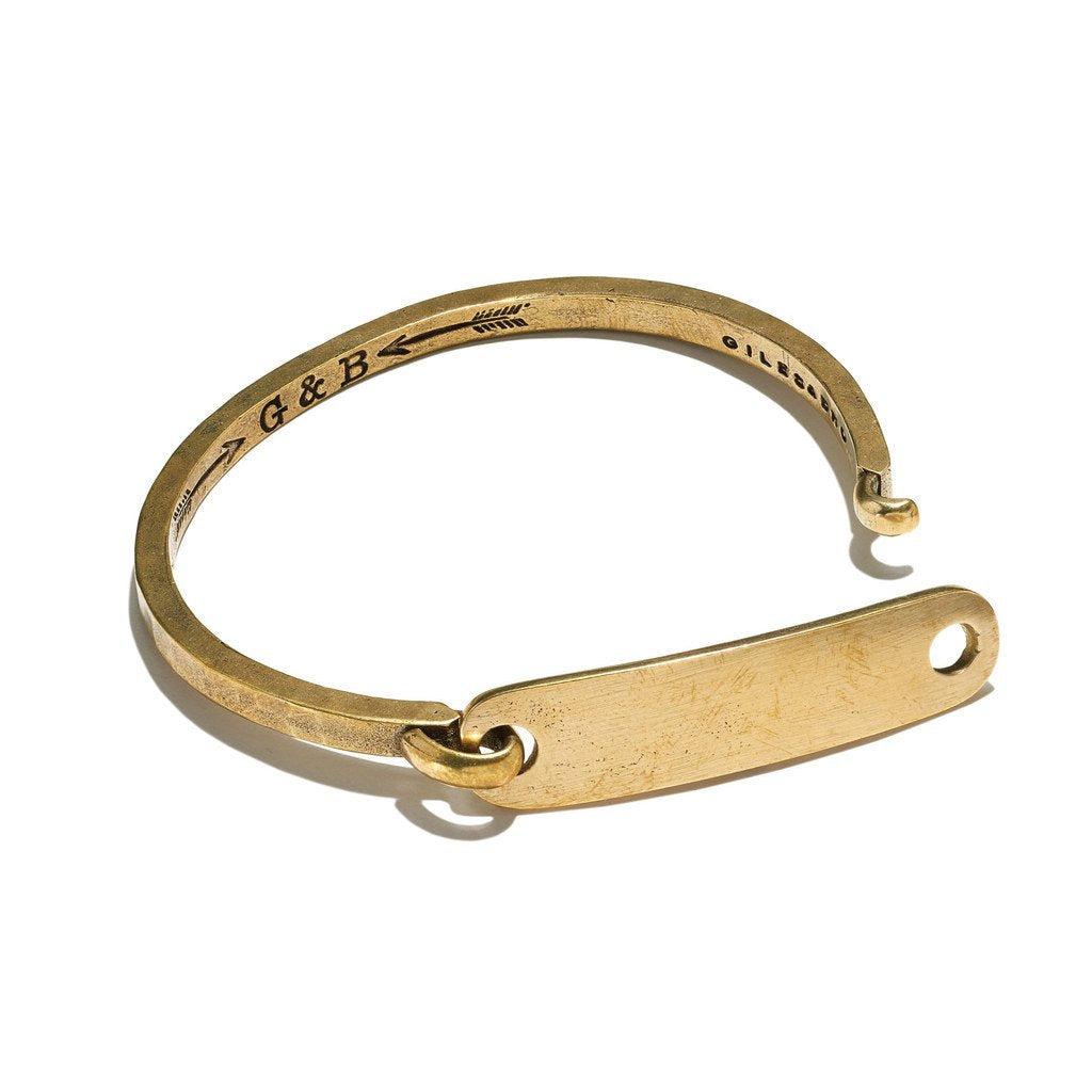 ID Tag with Hinge Cuff Bracelet