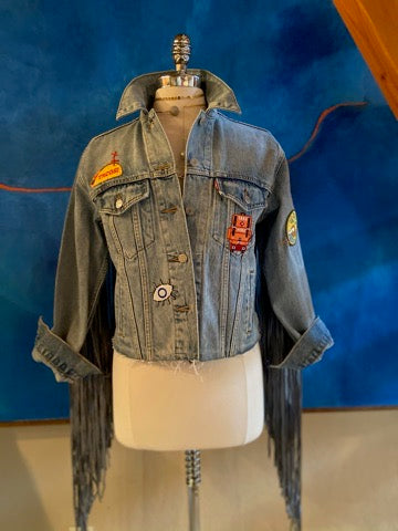 Levi's Trucker Jacket with Fringe