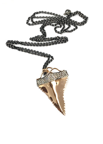 Rose Gold Sharks Tooth Necklace