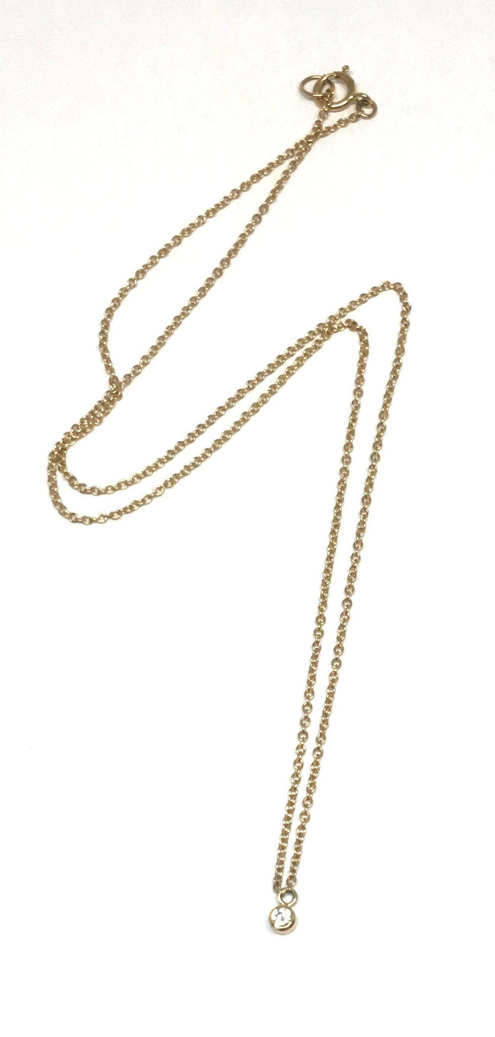 Petite Diamond Drop Necklace