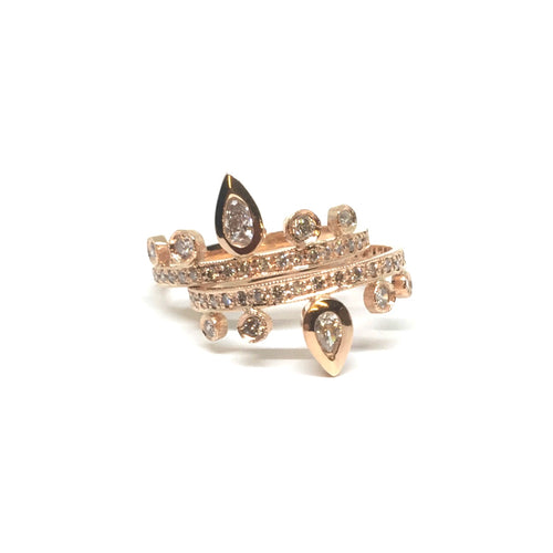 Teardrop Diamond Tiara Ring