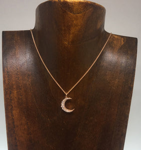 Diamond Moon Pendant