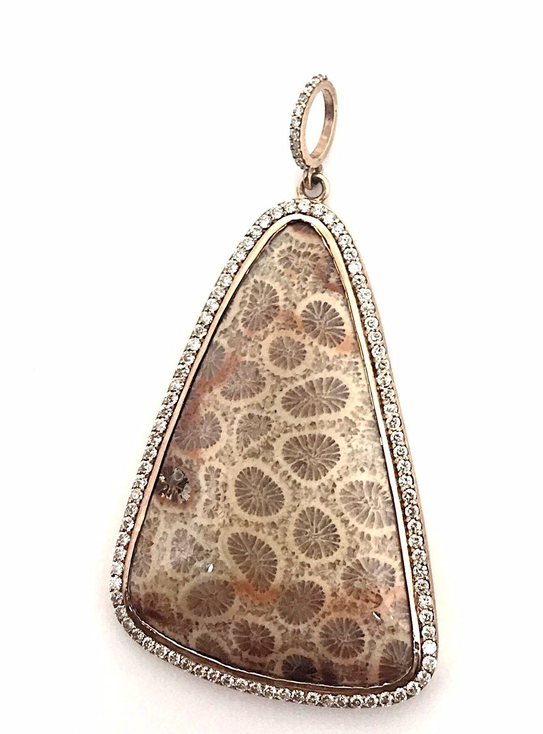 Fossilized Coral Pendant