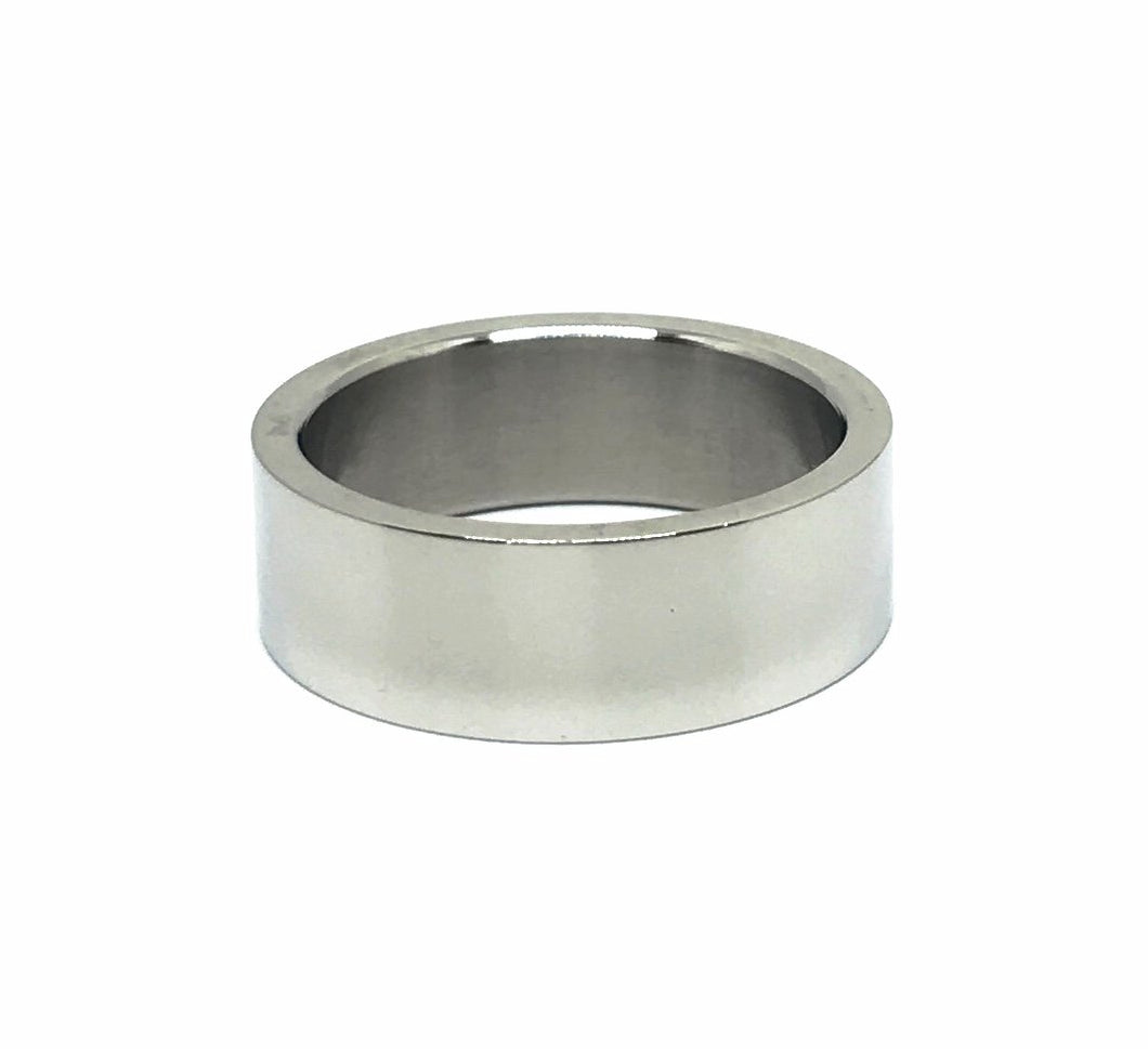 Steel 8mm Polished Band Ring