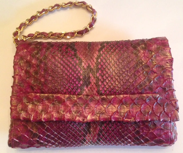 Hand Painted Python Crossbody