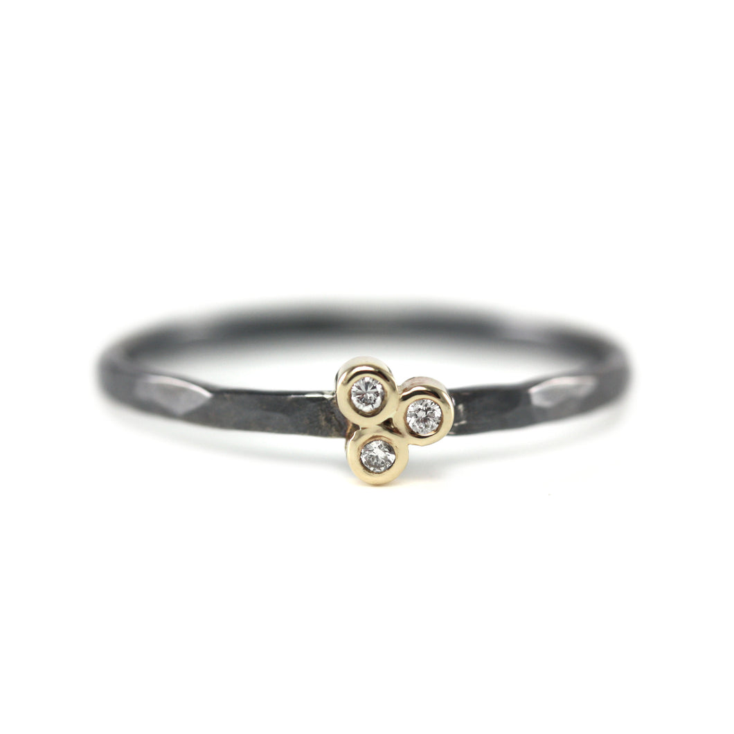 Triple Diamond Stacking Ring