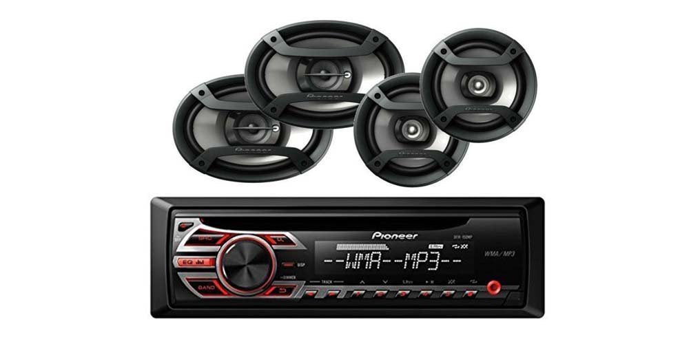 Pioneer DEH-150MP (Certified Refurbished) + TS-165P + TS-695P