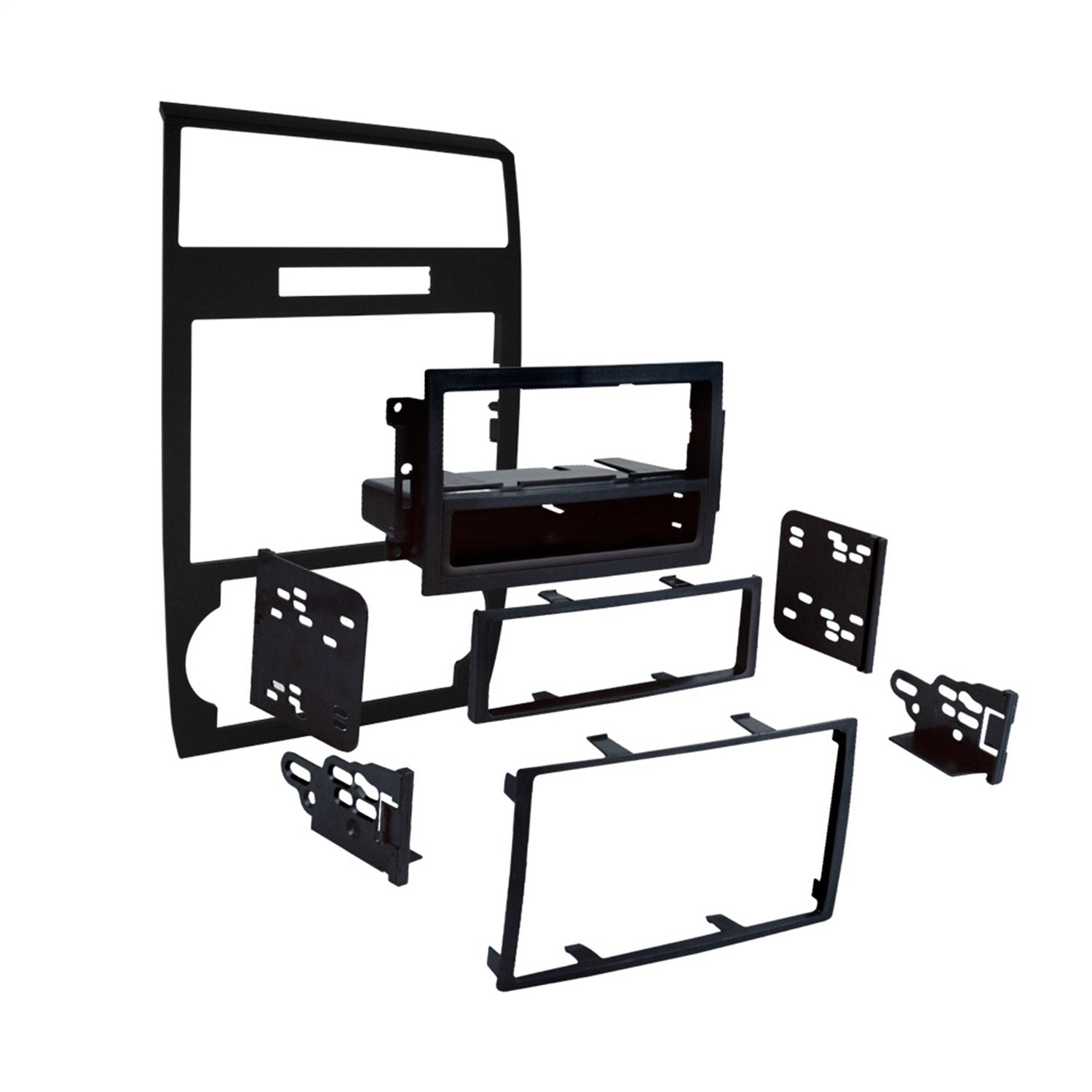 Metra 99-6519B Single/Double DIN Installation Dash Kit for Select Dodge Vehicles (Black)