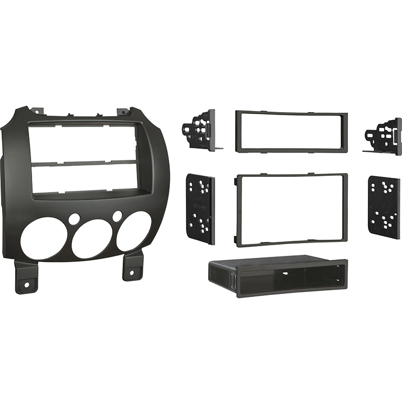 Metra 99-7518B (Black) Single/Double DIN Dash Installation Kit for 2007-Up Mazda 2 Vehicles