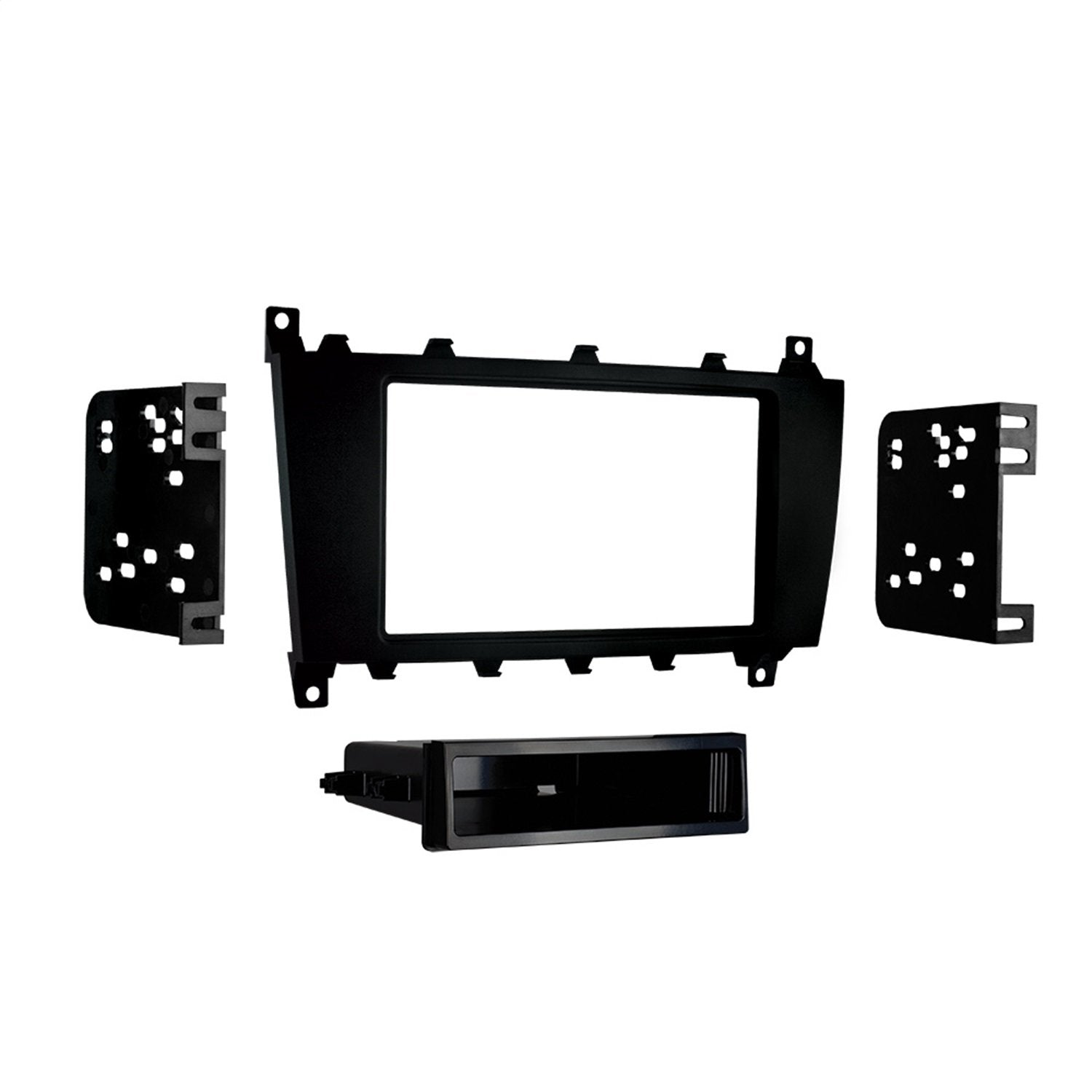 Metra 99-8721B Double or Single Din with Pocket Installation Kit for Mercedes-Benz Vehicles (Black)