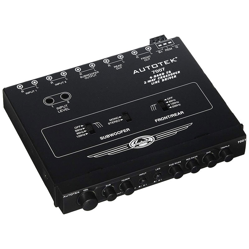 AUTOTEK 7007 Half-Din 4-Band 2-Way Equalizer/Crossover