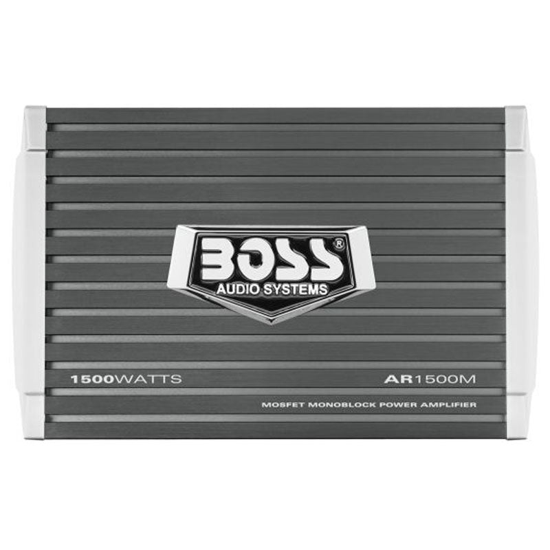 Boss AR1500M 1500W Max Armor Series Class A/B Monoblock Amplifier with Remote Subwoofer Level Control Included