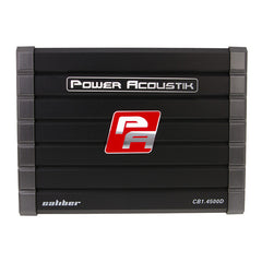 Power Acoustik CB1-4500D 4500 Peak (1500W RMS) Caliber Series Class-D Monoblock 1-Ohm Stable Amplifier with Bass Knob Included