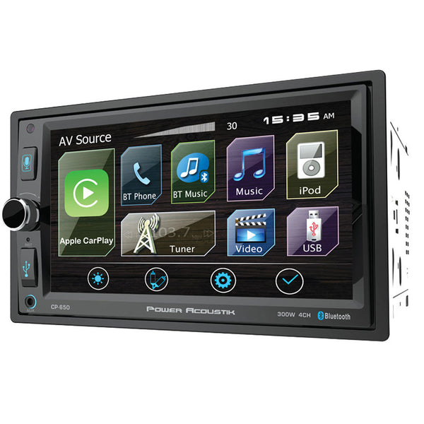 Power Acoustik CP-650 Double DIN Bluetooth In-Dash Digital Media Car Stereo Receiver