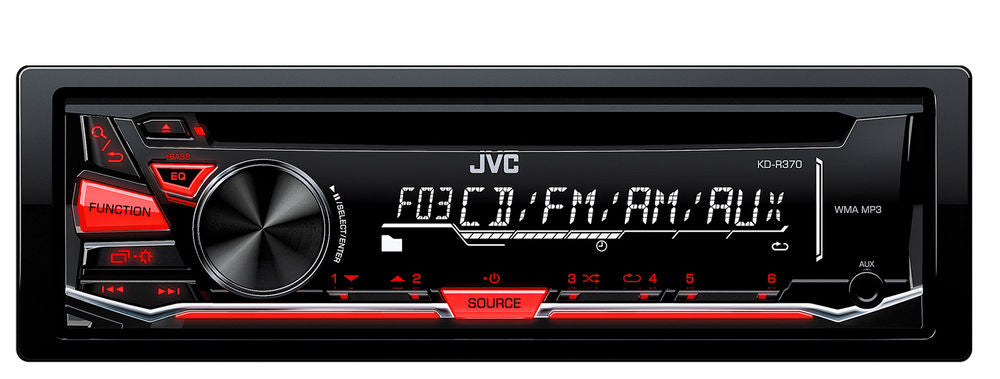 JVC KD-R370 Single DIN In-Dash CD/AM/FM/ Car Stereo