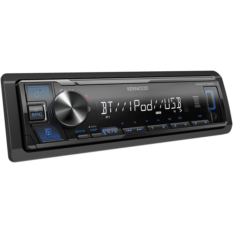 Kenwood KMM-BT228U Single DIN Bluetooth In-Dash Digital Media Car Stereo Receiver