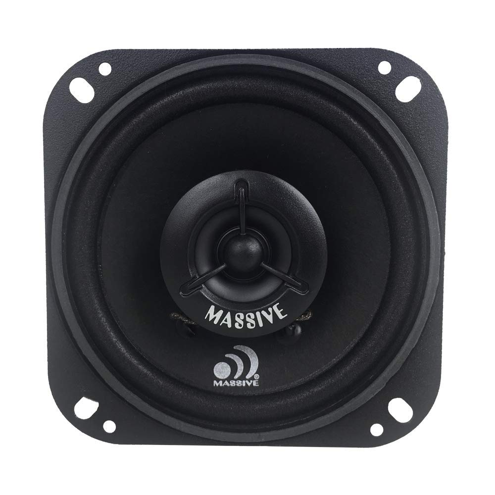 "Massive Audio MX4 300W Max (60W RMS) 4"" MX Series 2-Way Coaxial Car Speakers"