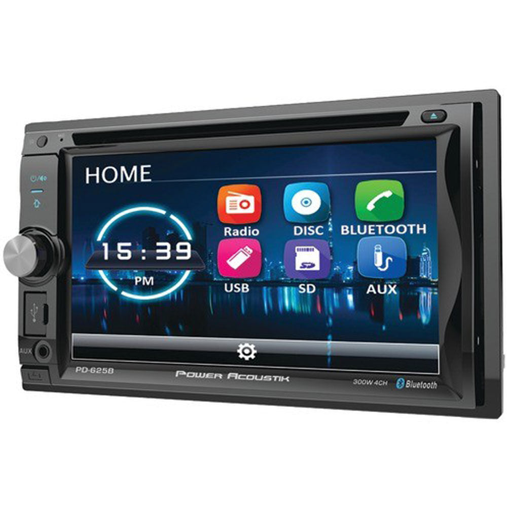 Power Acoustik PD-625B Double DIN Bluetooth In-Dash Incite Series Car Stereo Receiver