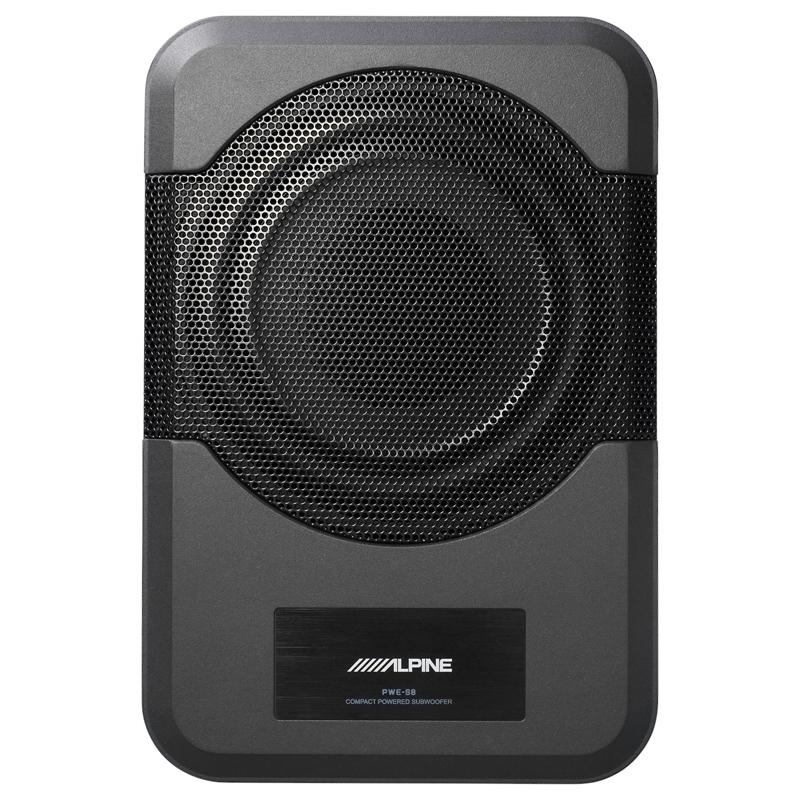 "Alpine PWE-S8 Compact 120-watt powered 8"" subwoofer"