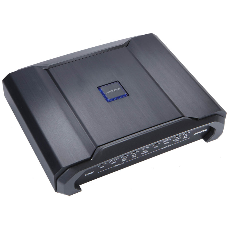 Alpine R-A60F R-Series 4-channel car amplifier — 100 watts RMS x 4
