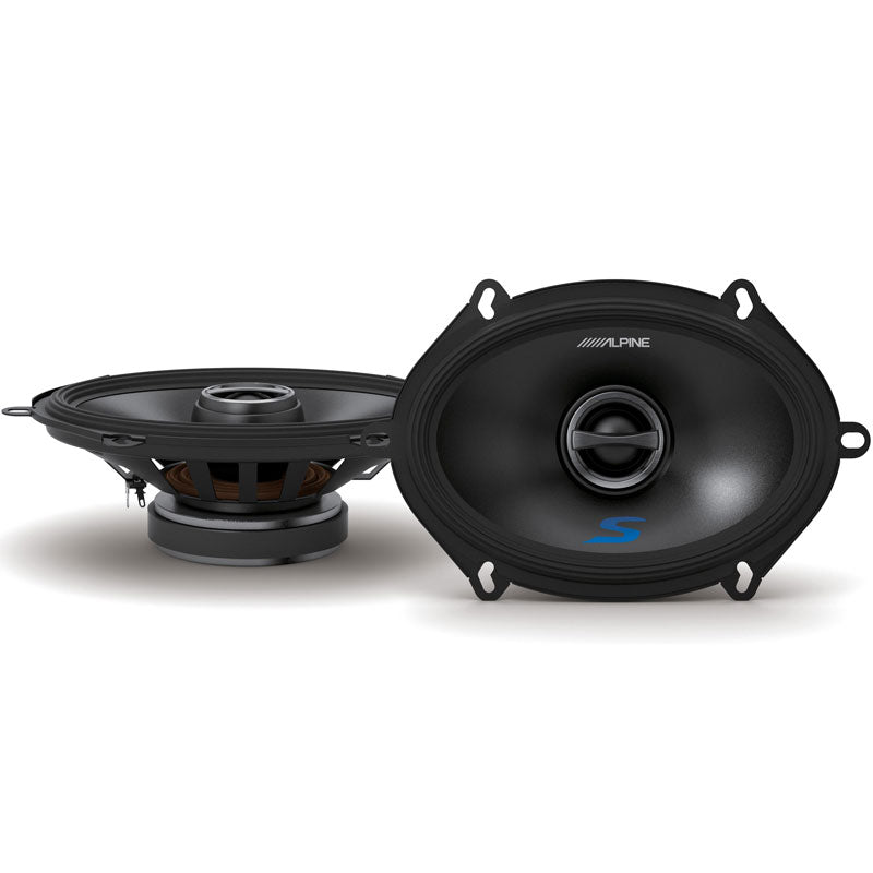"Alpine S-S57 460W Max (150W RMS) 5"" x 7"" Type-S Series 2-Way Coaxial Car Speakers"