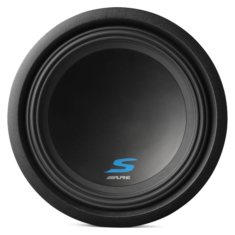 "Alpine S-W12D4 1800W Max (600W RMS) 12"" Type-S Series Dual 4 Ohm Car Subwoofer"