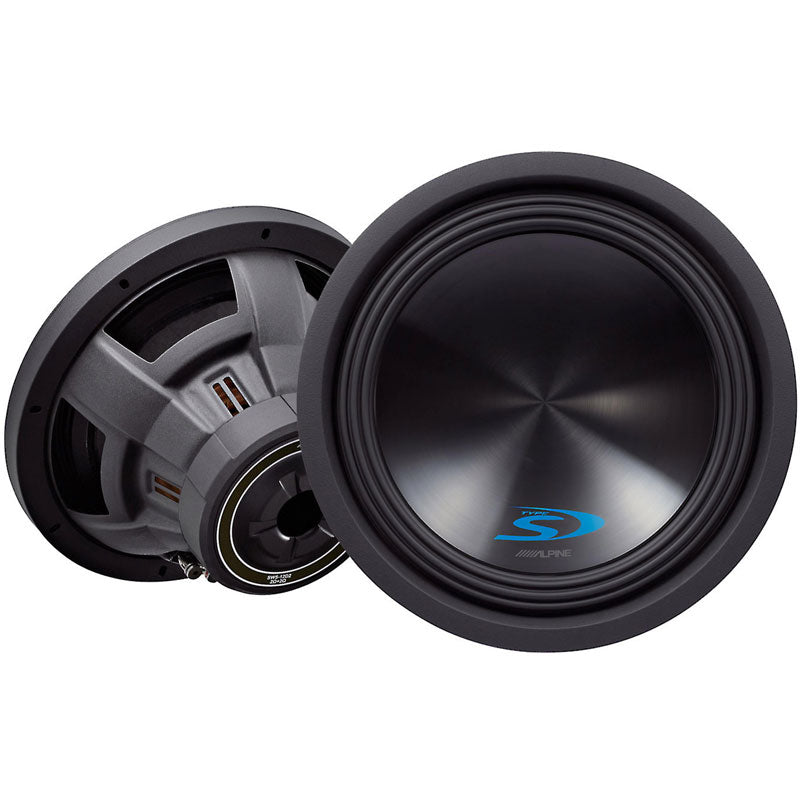 "Alpine SWS-12D2 Type-S 12"" subwoofer with dual 2-ohm voice coils"