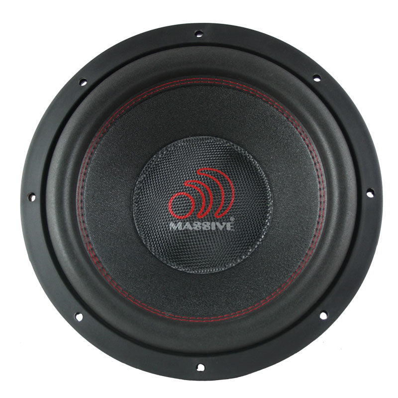 "Massive Audio TOROX124 12"" 2000W Dual 4 Ohm Car Audio Subwoofer"