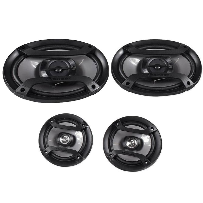 Pioneer TS-165P + TS-695P Two Pairs 200W 6.5 Inch + 230W 6 x 9 Inch Car Audio 4 Ohm Component Speakers