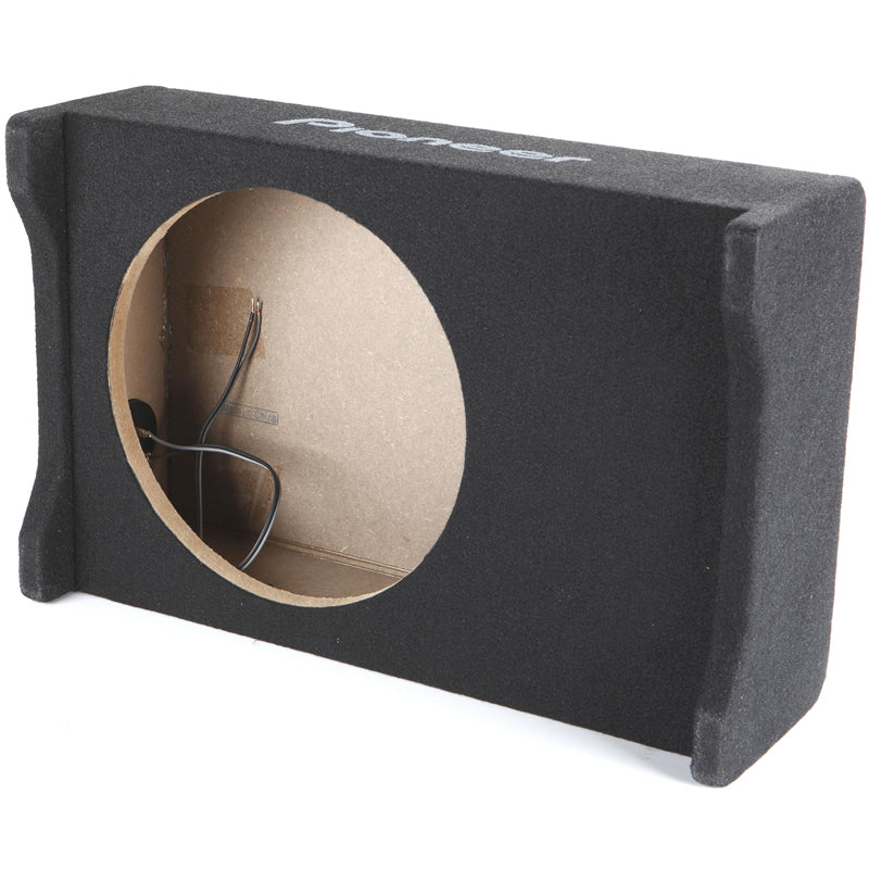 "Pioneer UD-SW250D Single down-firing sealed enclosure for 10"" shallow sub"