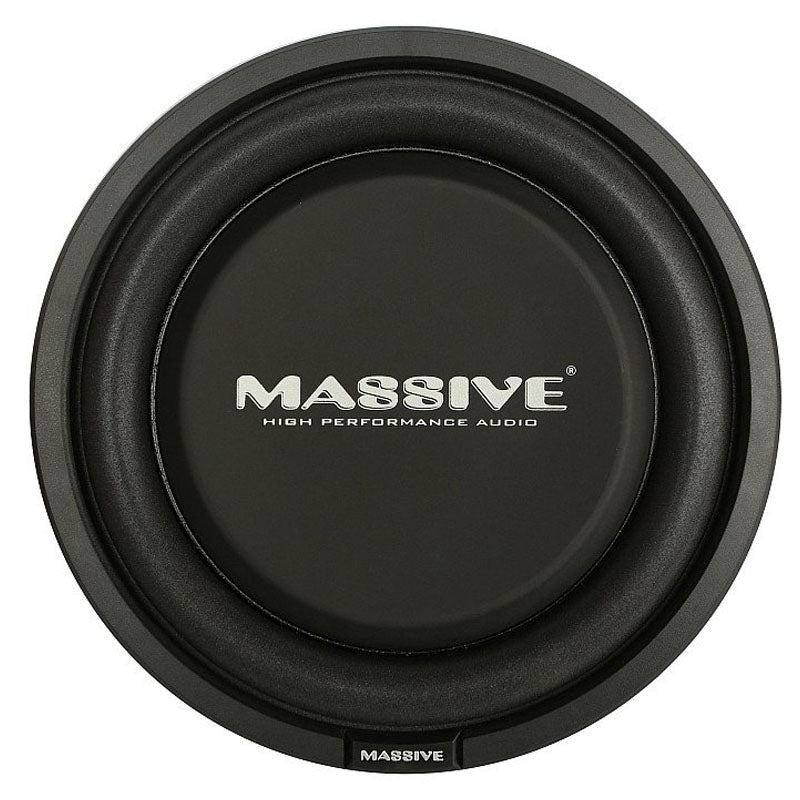 "Massive Audio UFO10 (UFO 10) 600W Max (300W RMS) 10"" Series Dual 4 ohm Shallow Mount Car Subwoofer"