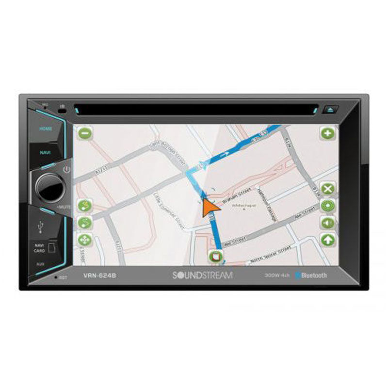 "Soundstream VRN-624B Double DIN Bluetooth In-Dash DVD/CD/AM/FM/Digital Media Car Stereo Receiver w/ 6.2"" Touchscreen & GPS Navigation"