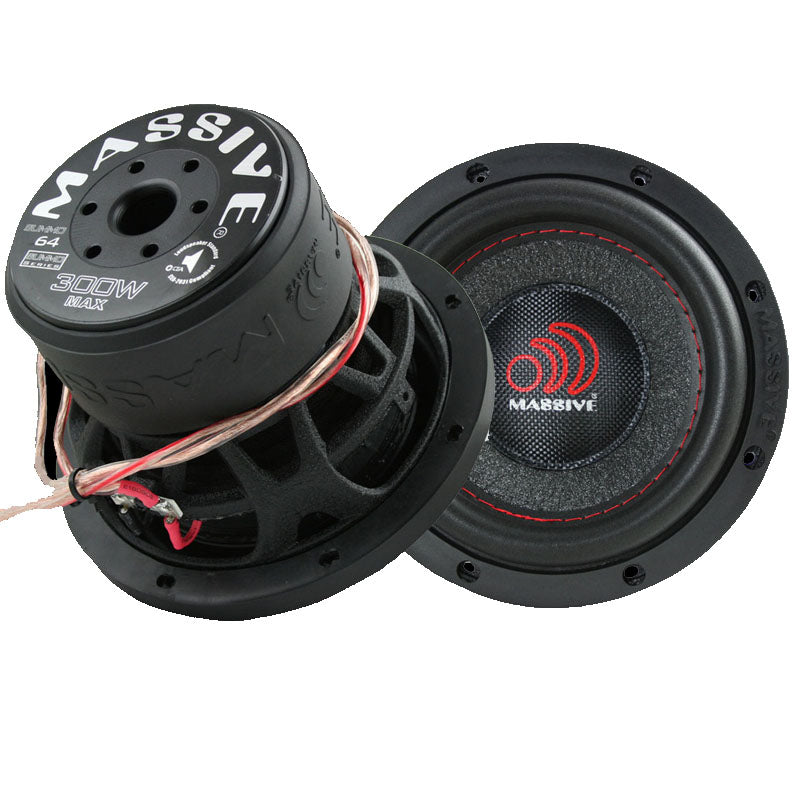 Massive Audio SUMMO64 6.5 Inch 300W Single 4 Ohm Subwoofer
