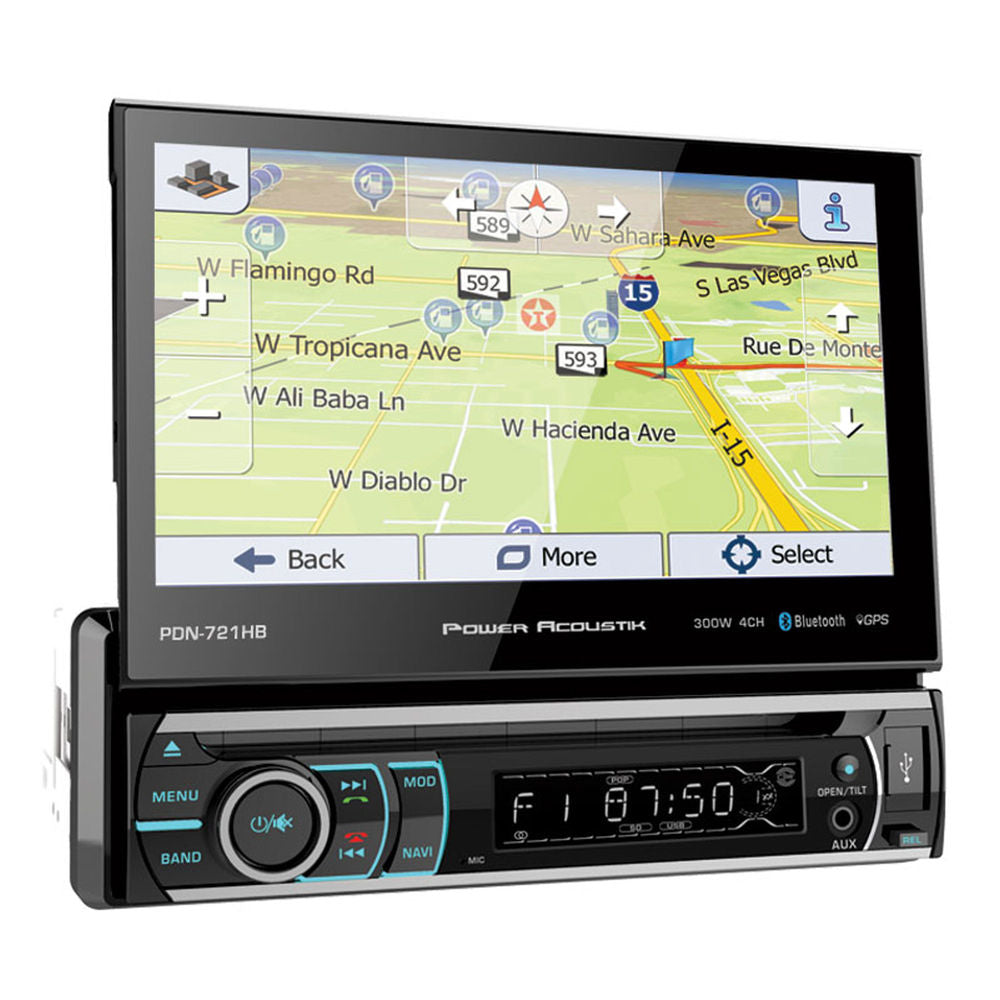 Power Acoustik PDN-721HB Single DIN Bluetooth In-Dash DVD/CD/AM/FM Car Stereo Receiver
