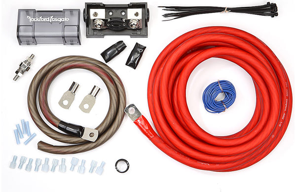 Rockford Fosgate RFK1 1/0-gauge amplifier power wiring kit