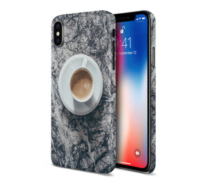 Morning Coffee x Black Marble Phone Case