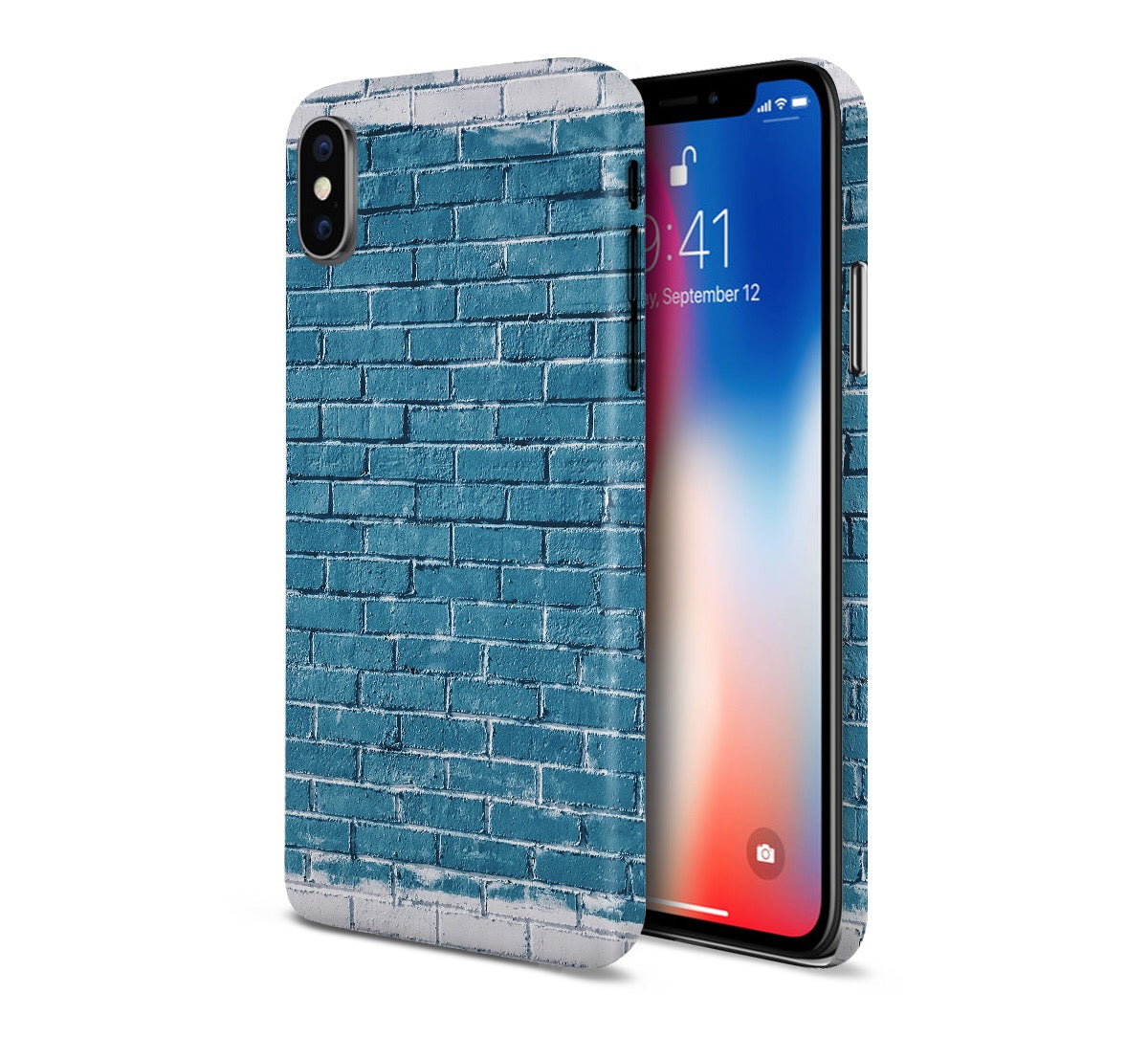 Blue x Grey Spray Paint Brick Phone Case