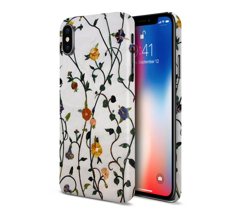 Floral Wall Garden x Marble Phone Case