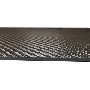 Carbon Fiber Plating  - 100mm x 250mm x 3mm - 3K Carbon Fiber Plate High Gloss Finish