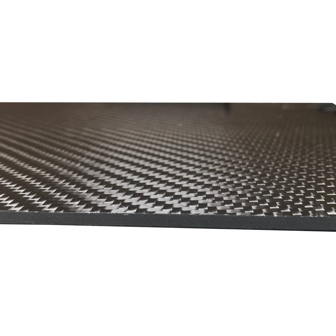Carbon Fiber Plating  - 100mm x 250mm x 2mm - 3K Carbon Fiber Plate High Gloss Finish