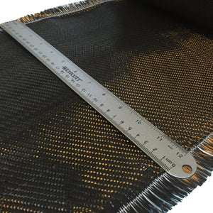 12 inch 2x2 twill weave carbon fiber fabric with hemmed egde